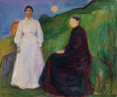 Expressionist Painting - Mother And Daughter by Edvard Munch
