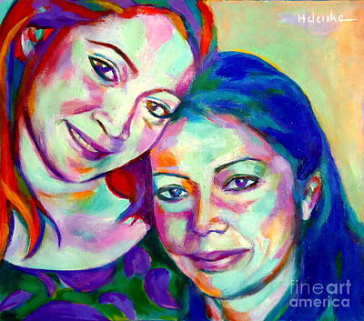 Mother And Daughter Original by Helena Wierzbicki