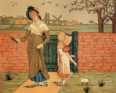Fruits And Vegetables Still Life - Mother and Daughter Kate Greenaway by Heidi De Leeuw