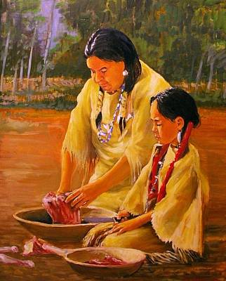 Painting - Mother And Daughter by Perrys Fine Art
