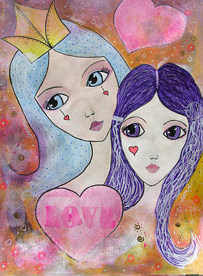 Drawing - Mother And Daughter by Riana Van Staden