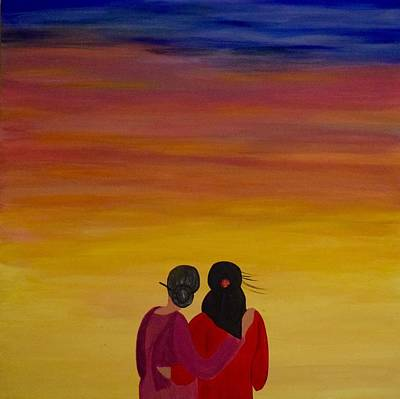 Painting - Mother And Daughter by Surbhi Grover