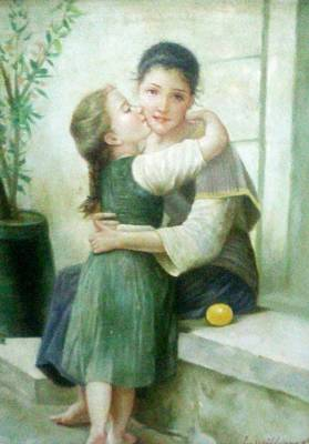 Mexico People Painting - Mother And Daughter by Unique Consignment