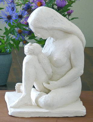 Sculpture - Mother And Infant by Deborah Dendler