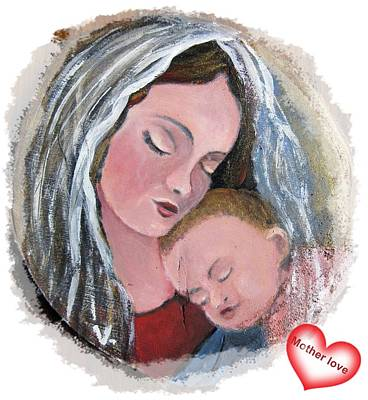 Painting - Mother And Love by Vesna Martinjak