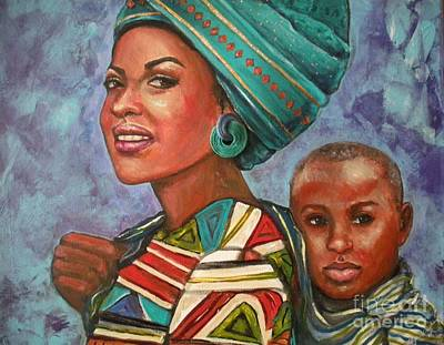 Painting - Mother And Son by Alga Washington
