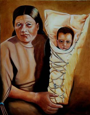 Painting - Mother And Son by Joni McPherson