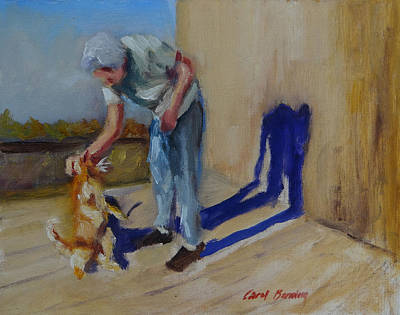 Painting - Mother And Yellow Tom by Carol Berning