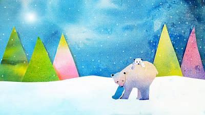 Folk Art Mixed Media - Mother Bear by Heather Asselin