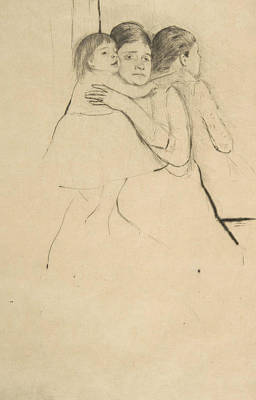 Relief - Mother Berthe Holding Her Child by Mary Cassatt