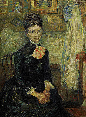 Female Painting - Mother By A Cradle, Portrait Of Leonie Rose Davy-charbuy by Vincent van Gogh