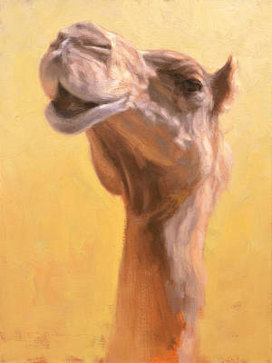 Camels Painting - Mother Camel by Ben Hubbard