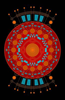 Mayan Digital Art - Mother Color by DB Artist