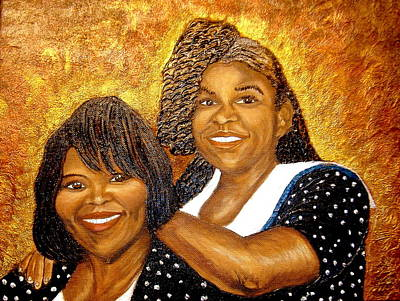 Keenya Woods Painting - Mother Daughter Friend by Keenya  Woods