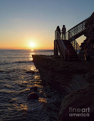 Photograph - Mother-daughter Sunset, San Diego, California  -74708 by John Bald