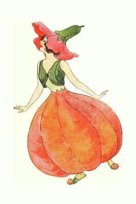 Nikki Vig Digital Art - Mother Earth Children Lady Pomegranate by Nikki Vig
