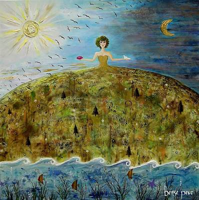 Mother Earth Art Print by Denise Peat