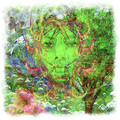 Gaia Digital Art - Mother Earth by Diane Parnell