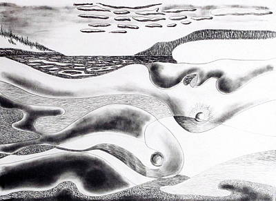Drawing - Mother Earth by Douglas Pike