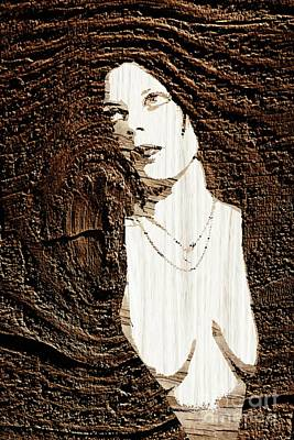 Aged Wood Digital Art - Mother Earth by Pierre Blanchard