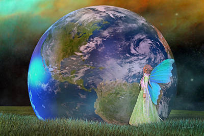 Milky Digital Art - Mother Earth Series Plate3 by Betsy Knapp