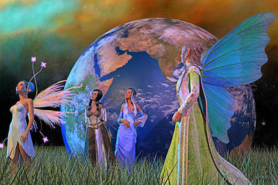 Milky Digital Art - Mother Earth Series Plate5 by Betsy Knapp