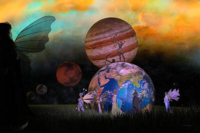 Fantasy Royalty-Free and Rights-Managed Images - Mother Earth Series Plate6 by Betsy Knapp