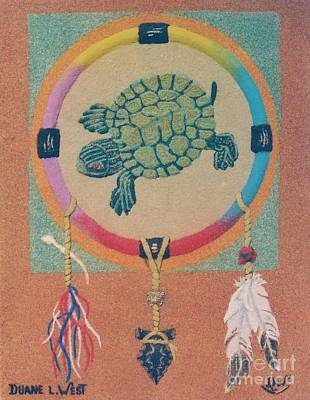 Mother Earth Turtle Medicine Wheel Original