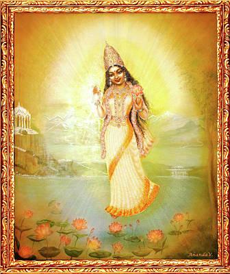 Painting - Mother Goddess Lalitha by Ananda Vdovic