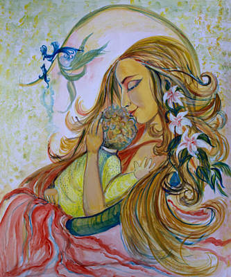 Mother Goddess Art Print by Sarabjit Singh
