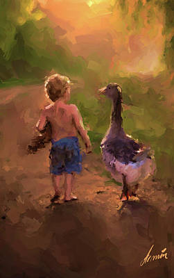 Mother Goose Painting - Mother Goose by Armin Sabanovic