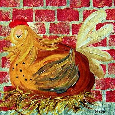 Chickens Painting - Mother Hen by Eloise Schneider