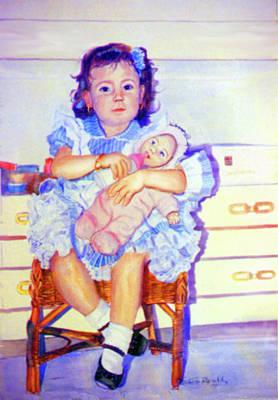Infantile Painting - Mother Instinct by Estela Robles