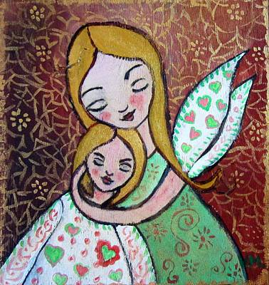 Painting - Mother Love by Vesna Martinjak