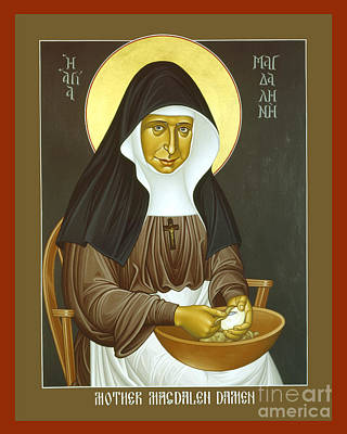 Painting - Mother Magdalen Damen - Rlmmd by Br Robert Lentz OFM