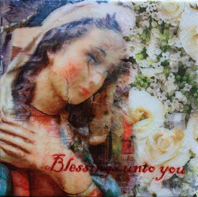 Painting - Mother Mary Blessing by Tara Moorman