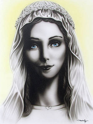 Painting - Mother Mary by Dan Menta