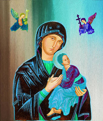 Mother Mary Digital Art - Mother Mary by Ericamaxine Price
