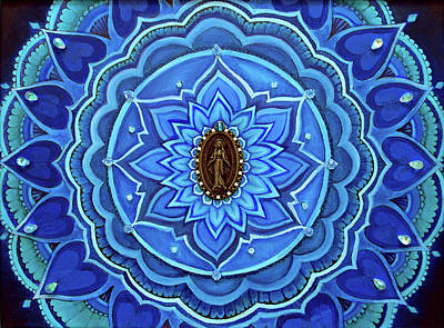 Painting - Mother Mary Mandala by Eleanor Hofer