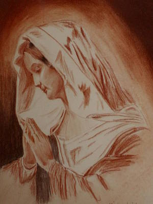 Mother Mary Art Print by Mike Hinojosa