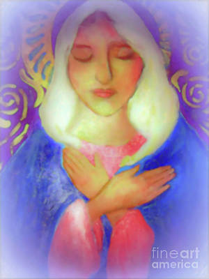 Photograph - Mother Mary Soft Light by Shirley Moravec