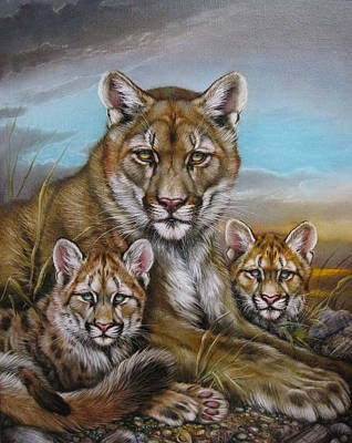 Painting - Mother Mountain Lion by Martin Katon