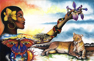 African-american Mixed Media - Mother Nature Iv by Anthony Burks Sr