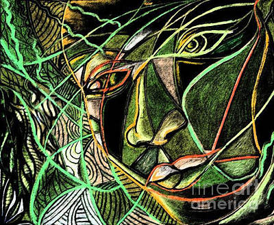 Mother Land Drawing - Mother Nature by Teleita Art