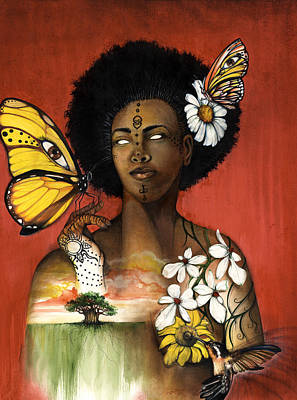 African-american Mixed Media - Mother Nature Viii by Anthony Burks Sr