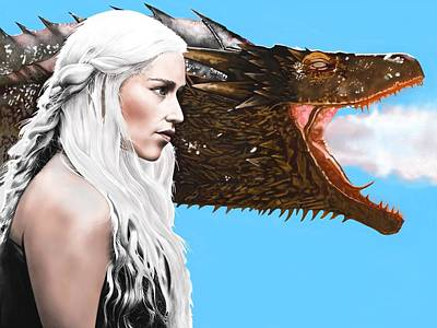 Digital Art - Mother Of Dragons by Andrew Harrison