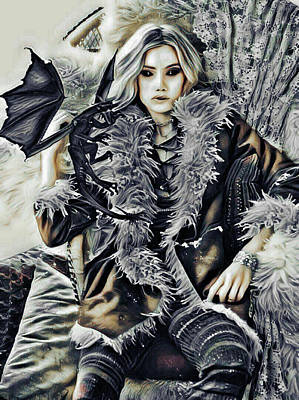 Digital Art - The Mother Of Dragons by Rhonda Barrett