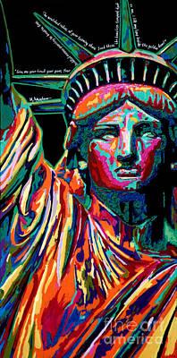 Mother Of Exiles Art Print by Maria Arango