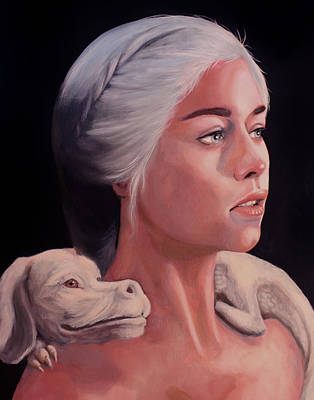 Neverending Story Painting - Mother Of Falcor  by Jason  Wright