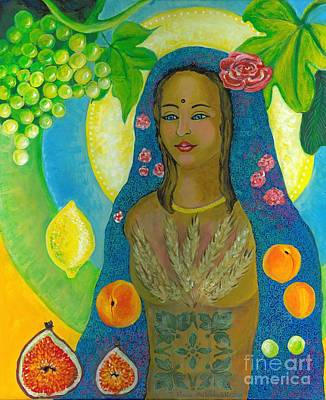 Fertility Painting - Mother Of First Fruit Harvest by S Arathi Ma Tonti